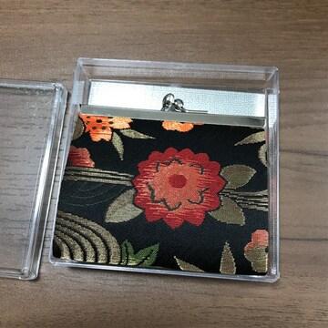 西陣織風和装小物財布8×9小銭入れコインケース新品未使用がま口