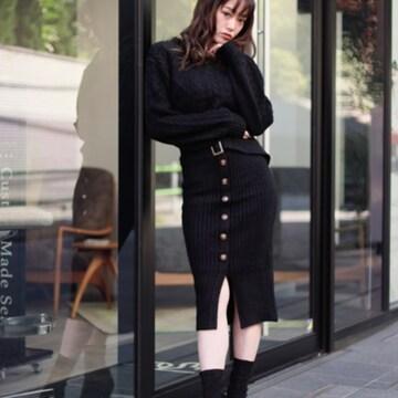 今季最新★リップサービス★ショートフェザーケーブルセットアップ ブラック/M 新品タグ付