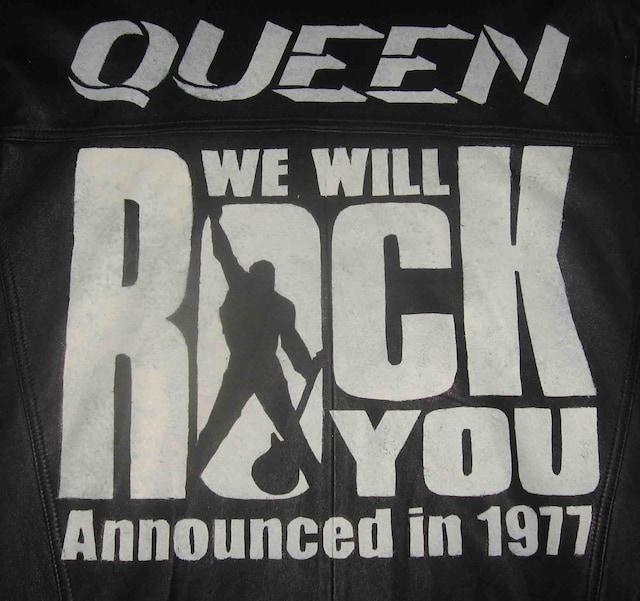 クイーン We Will Rock You【手描きペイント革ジャン】 < 男性ファッションの