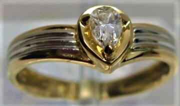 K18/K18WG 18金リング 指輪 ダイヤ0.14ct サイズ#6 ピンキー