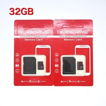 マイクロSDカード 32GB 2枚セット! microSDHCカード microSD