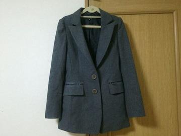 エゴイスト EGOIST  ロング ジャケット グレー アウター Mスーツ