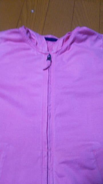 ユニクロ 130センチ 薄手 パーカー 女の子 ピンク < ブランドの