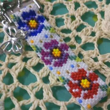 『手作り』ペヨーテステッチ♪colorfulお花