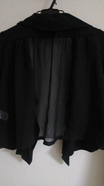 フリル&背面シフォン切替ボレロ◆大きいサイズ◆13日迄の出品/送180円即決 < 女性ファッションの
