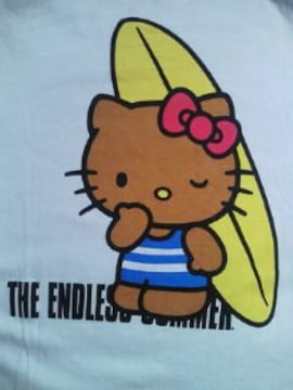 The Endless Summer ハローキティ コラボ サーフィン デザイン Tシャツ ブルー Mサイズ