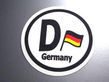 ○円形 ドイツ国旗ステッカービークルID国識別シール
