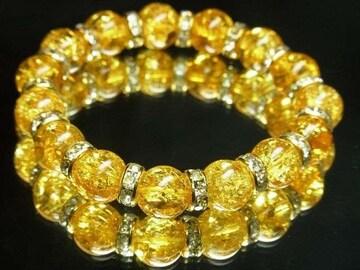 事業の成功をサポート シトリンクラックブレスレット 10ミリ天然石数珠