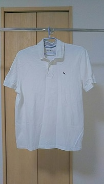 美品!格安!エディー・バウアーの胸刺繍ポロシャツXL白