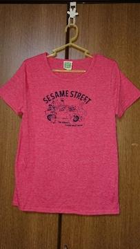 【SESAME STREET】Tシャツ*赤系*LL